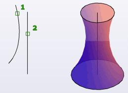 مثال فرمان Revolve اتوکد سه بعدی