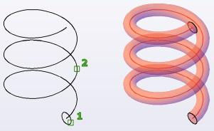 مثال فرمان Sweep اتوکد سه بعدی