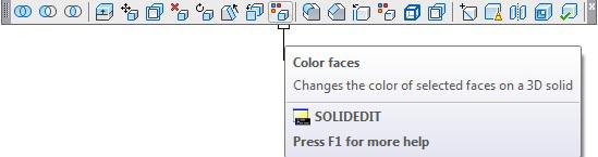 روش دوم: از طریق نوار ابزار Solid Editing اتوکد