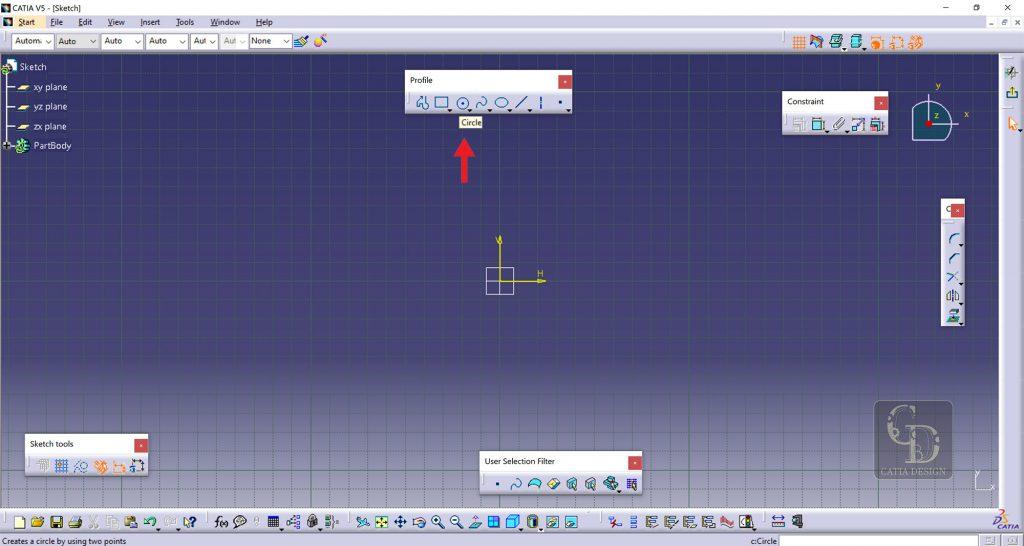 افزایش سرعت در طراحی اسکیچ با دستور Copy Radius