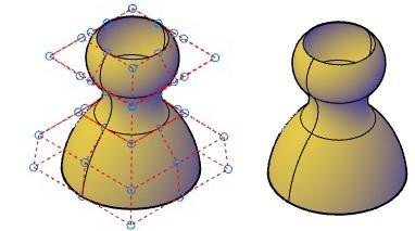 روشهای اجرای فرمان Surface CV – Hide اتوکد سه بعدی
